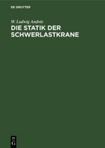 eBook Die Statik der Schwerlastkrane Cover