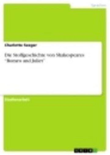 eBook Die Stoffgeschichte von Shakespeares 'Romeo and Juliet' Cover