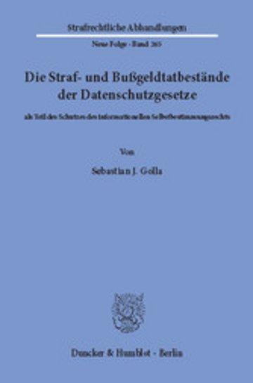 eBook Die Straf- und Bußgeldtatbestände der Datenschutzgesetze Cover