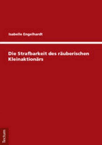 eBook Die Strafbarkeit des räuberischen Kleinaktionärs Cover