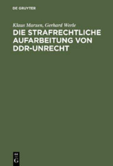 eBook Die strafrechtliche Aufarbeitung von DDR-Unrecht Cover