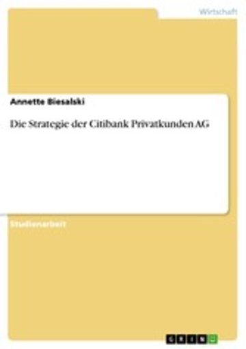 eBook Die Strategie der Citibank Privatkunden AG Cover