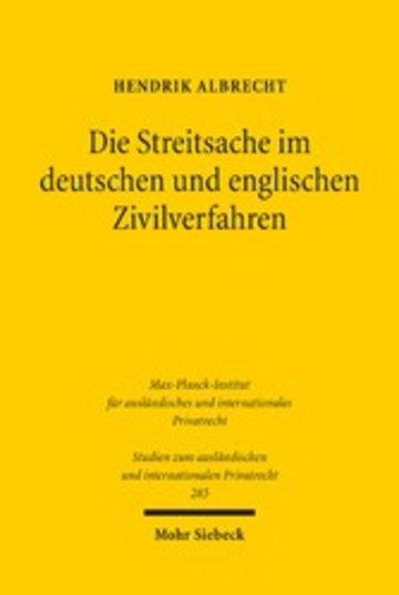 eBook Die Streitsache im deutschen und englischen Zivilverfahren Cover