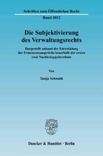 eBook Die Subjektivierung des Verwaltungsrechts. Cover