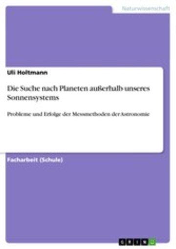 eBook Die Suche nach Planeten außerhalb unseres Sonnensystems Cover