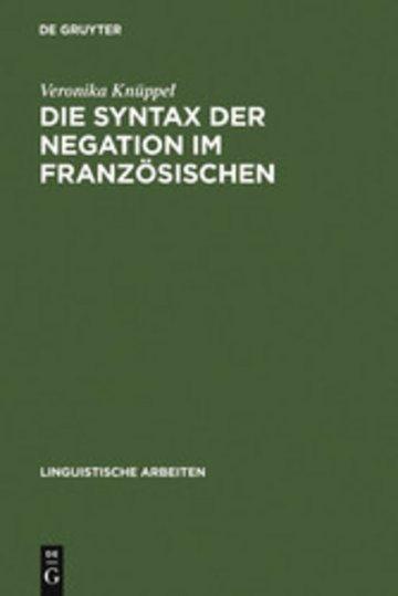 eBook Die Syntax der Negation im Französischen Cover
