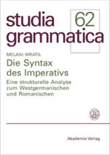 eBook Die Syntax des Imperativs Cover