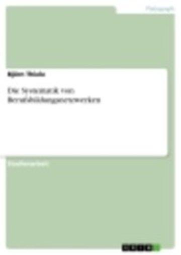 eBook Die Systematik von Berufsbildungsnetzwerken Cover