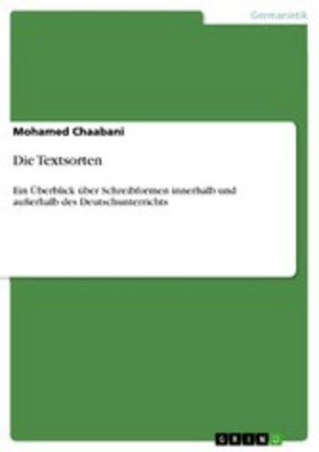 eBook Die Textsorten Cover