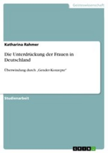 eBook Die Unterdrückung der Frauen in Deutschland Cover