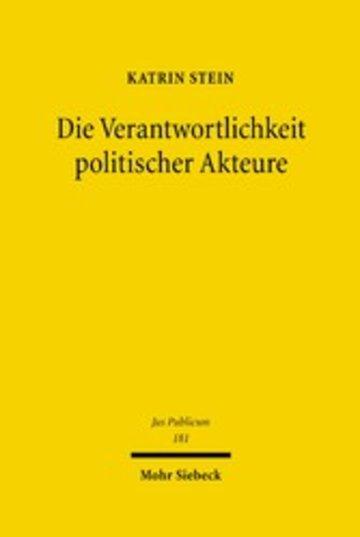 eBook Die Verantwortlichkeit politischer Akteure Cover