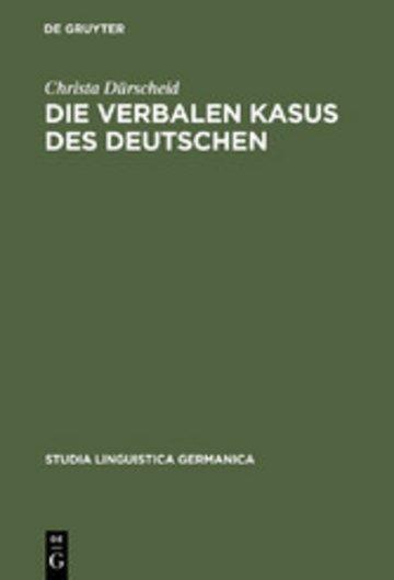 eBook Die verbalen Kasus des Deutschen Cover