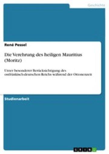 eBook Die Verehrung des heiligen Mauritius (Moritz) Cover