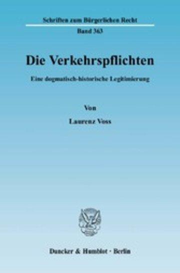eBook Die Verkehrspflichten. Cover