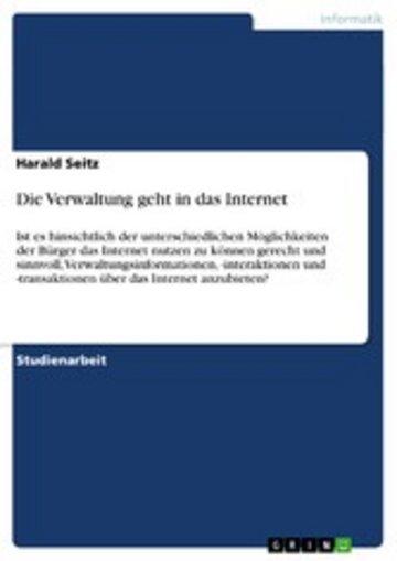 eBook Die Verwaltung geht in das Internet Cover