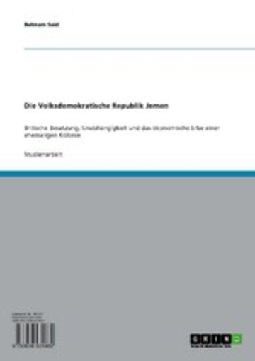 eBook Die Volksdemokratische Republik Jemen Cover