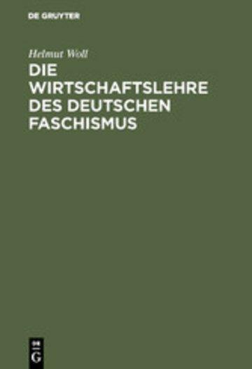 eBook Die Wirtschaftslehre des deutschen Faschismus Cover