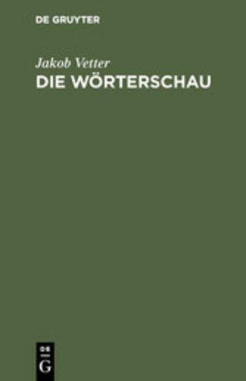 eBook Die Wörterschau Cover