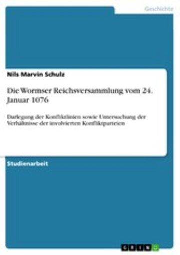eBook Die Wormser Reichsversammlung vom 24. Januar 1076 Cover