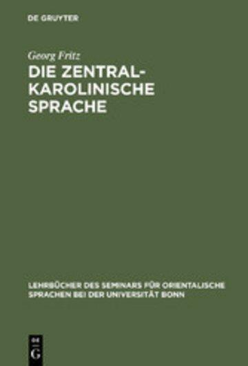 eBook Die zentralkarolinische Sprache Cover