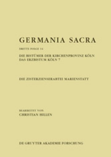 eBook Die Zisterzienserabtei Marienstatt. Die Bistümer der Kirchenprovinz Köln. Das Erzbistum Köln 7 Cover