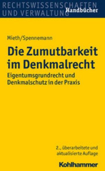 eBook Die Zumutbarkeit im Denkmalrecht Cover