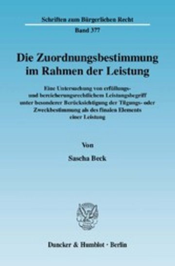 eBook Die Zuordnungsbestimmung im Rahmen der Leistung. Cover