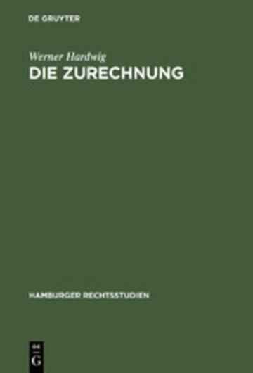 eBook Die Zurechnung Cover