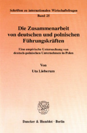 eBook Die Zusammenarbeit von deutschen und polnischen Führungskräften. Cover