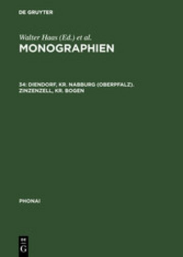 eBook Diendorf, Kr. Nabburg (Oberpfalz). Zinzenzell, Kr. Bogen Cover
