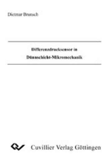 eBook Differenzdrucksensor in Dünnschicht-Mikromechanik Cover
