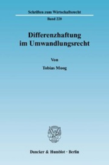 eBook Differenzhaftung im Umwandlungsrecht. Cover