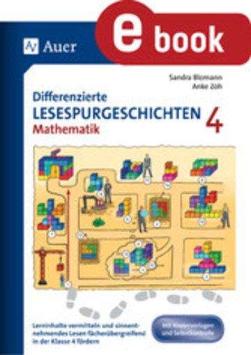 eBook Differenzierte Lesespurgeschichten Mathematik 4 Cover