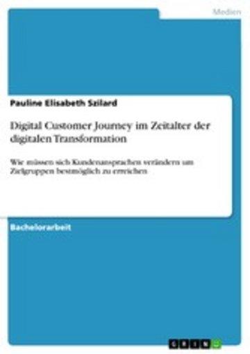 eBook Digital Customer Journey im Zeitalter der digitalen Transformation Cover