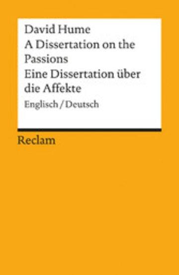 eBook A Dissertation on the Passions / Eine Dissertation über die Affekte Cover