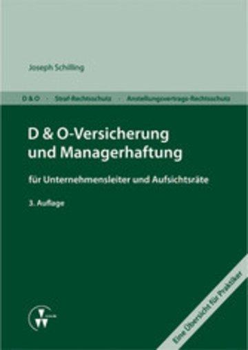 eBook D&O-Versicherung und Managerhaftung für Unternehmensleiter und Aufsichtsräte Cover