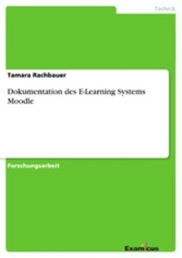 eBook Dokumentation des E-Learning Systems Moodle Cover