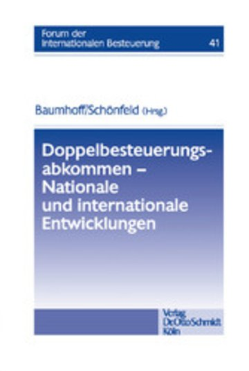 eBook Doppelbesteuerungsabkommen - Nationale und internationale Entwicklungen Cover