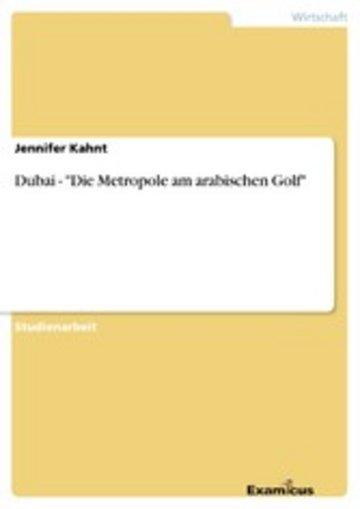eBook Dubai - 'Die Metropole am arabischen Golf' Cover