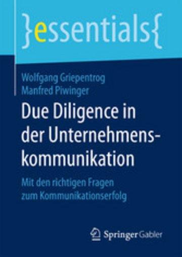 eBook Due Diligence in der Unternehmenskommunikation Cover