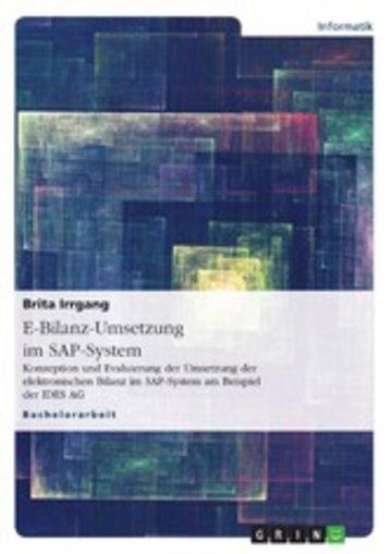 eBook E-Bilanz-Umsetzung im SAP-System Cover