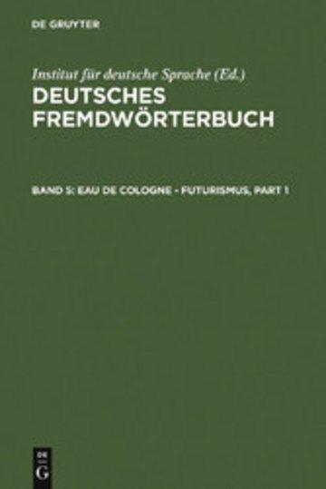 eBook Eau de Cologne - Futurismus Cover