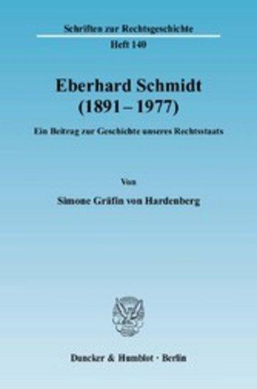 eBook Eberhard Schmidt (1891-1977). Cover