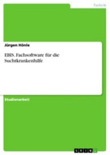eBook EBIS. Fachsoftware für die Suchtkrankenhilfe Cover