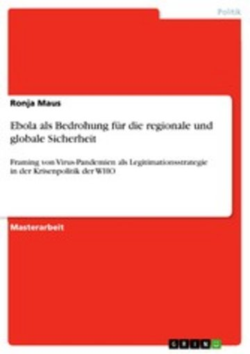 eBook Ebola als Bedrohung für die regionale und globale Sicherheit Cover