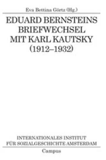 eBook Eduard Bernsteins Briefwechsel mit Karl Kautsky (1912-1932) Cover