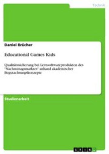 eBook Educational Games Kids Cover