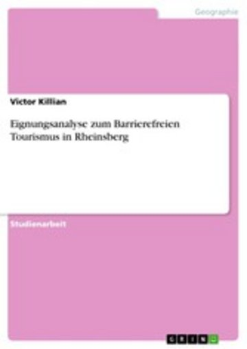 eBook Eignungsanalyse zum Barrierefreien Tourismus in Rheinsberg Cover