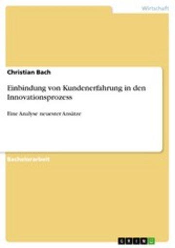 eBook Einbindung von Kundenerfahrung in den Innovationsprozess Cover