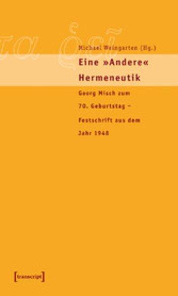 eBook Eine »andere« Hermeneutik Cover